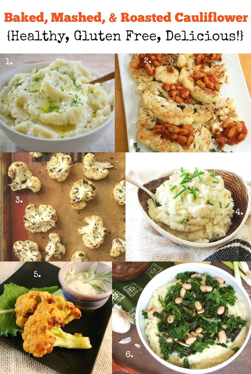 Healthy Cauliflower Recipes | Baked, Mashed, & Roasted Cauliflower | Gluten Free & Delicious! | Get all the recipes at The Spicy RD