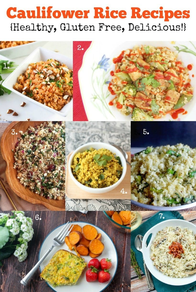 Healthy Cauliflower Recipes   Cauliflower Rice   Gluten Free & Delicious!   Get all the recipes at The Spicy RD