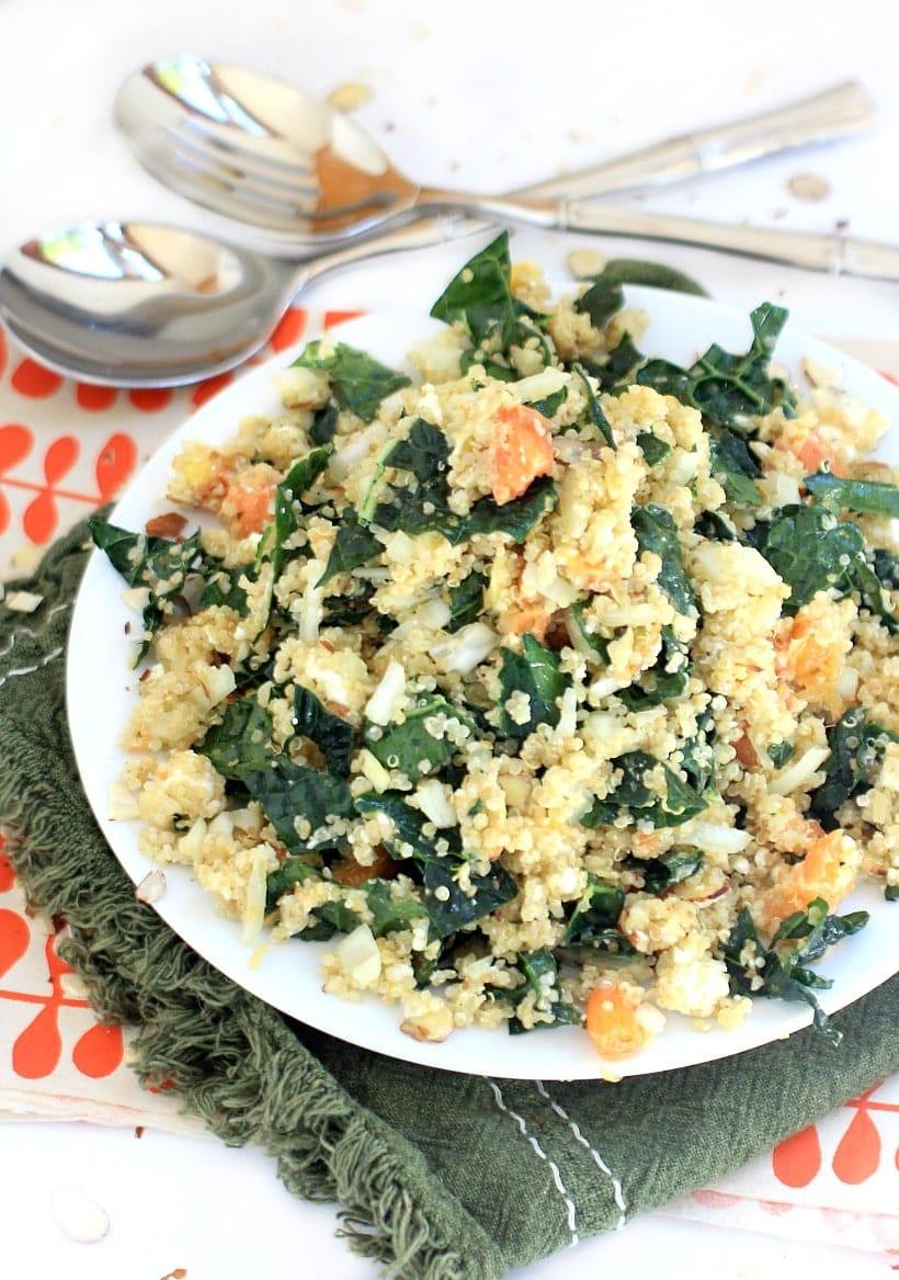 Zesty Citrus, Kale, and Quinoa Salad | Lunch & Dinner Recipes | Gluten Free, Vegetarian, Low FODMAP option