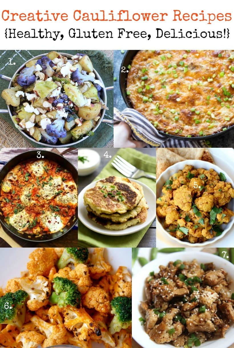 Healthy & Creative Cauliflower Recipes | Gluten Free & Delicious! | Get all the recipes at The Spicy RD