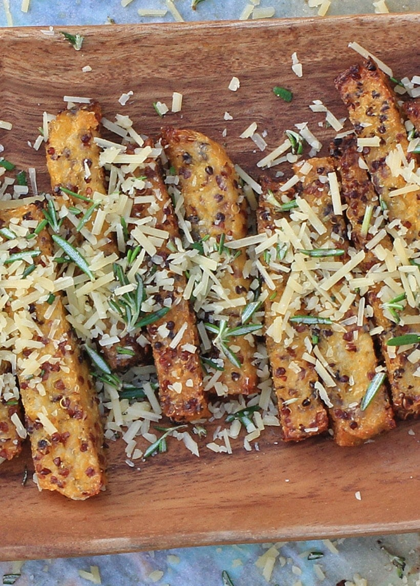 Rosemary Parmesan Polenta Fries | Gluten Free & Low FODMAP Recipe at The Spicy RD