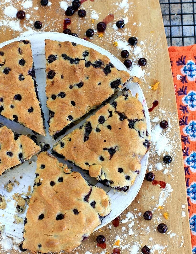 Wild Blueberry Orange Scones | Breakfast & Snack Recipes | Gluten Free, Grain Free, Low FODMAP