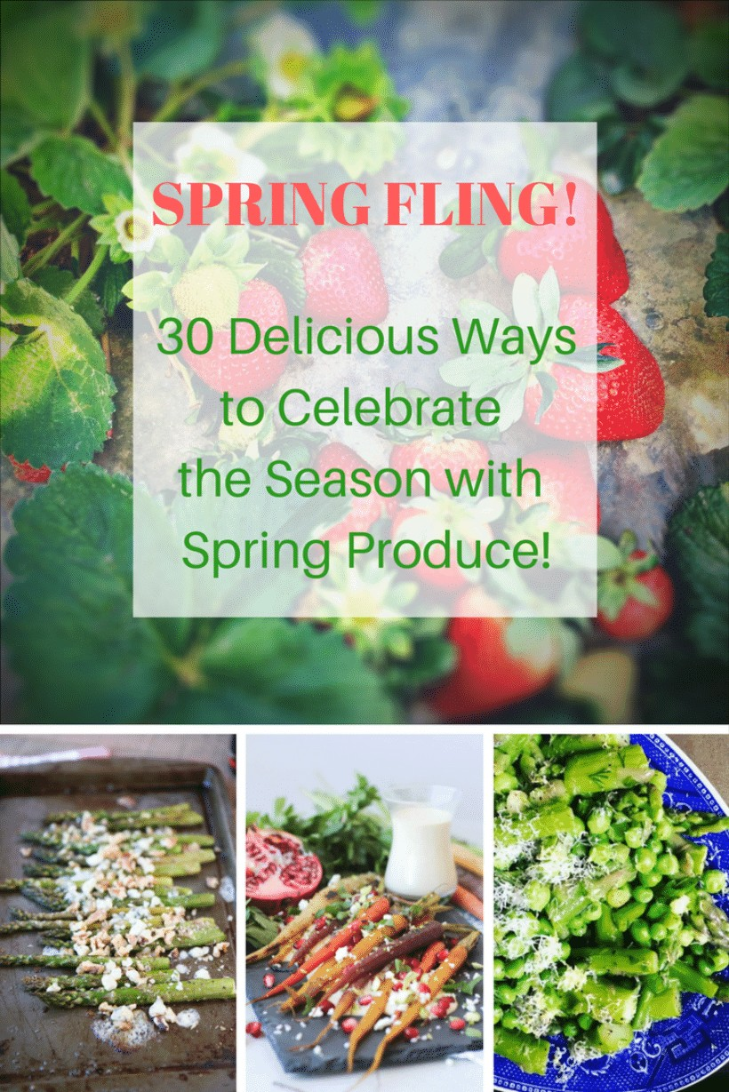 Spring Produce Guide | 30 Healthy & Delicious Spring Recipes at The Spicy RD