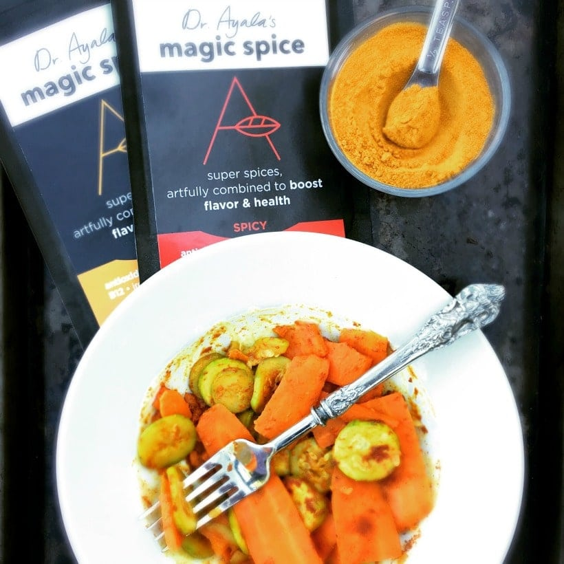 Add a nutritional boost to your foods with Ayala's Magic Spice blend. It's gluten free, vegan, organic, and GMO free.
