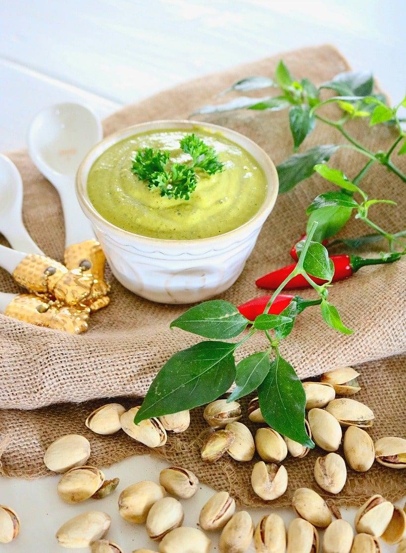 Cilantro Pistachio Pesto Recipe