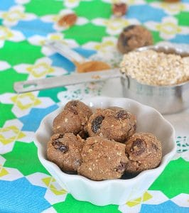 Cinnamon Raisin. Pecan Oatmeal Cookie Dough Bites | Vegan and Gluten Free