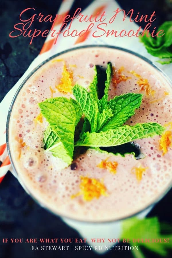 Grapefruit Mint Superfood Smoothie