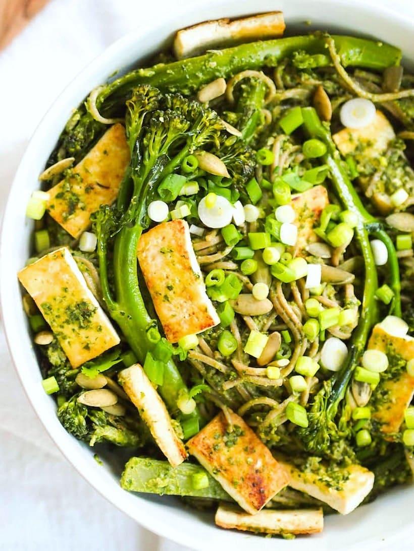 Vegan Soba Noodle Bowl with Pesto Recipe