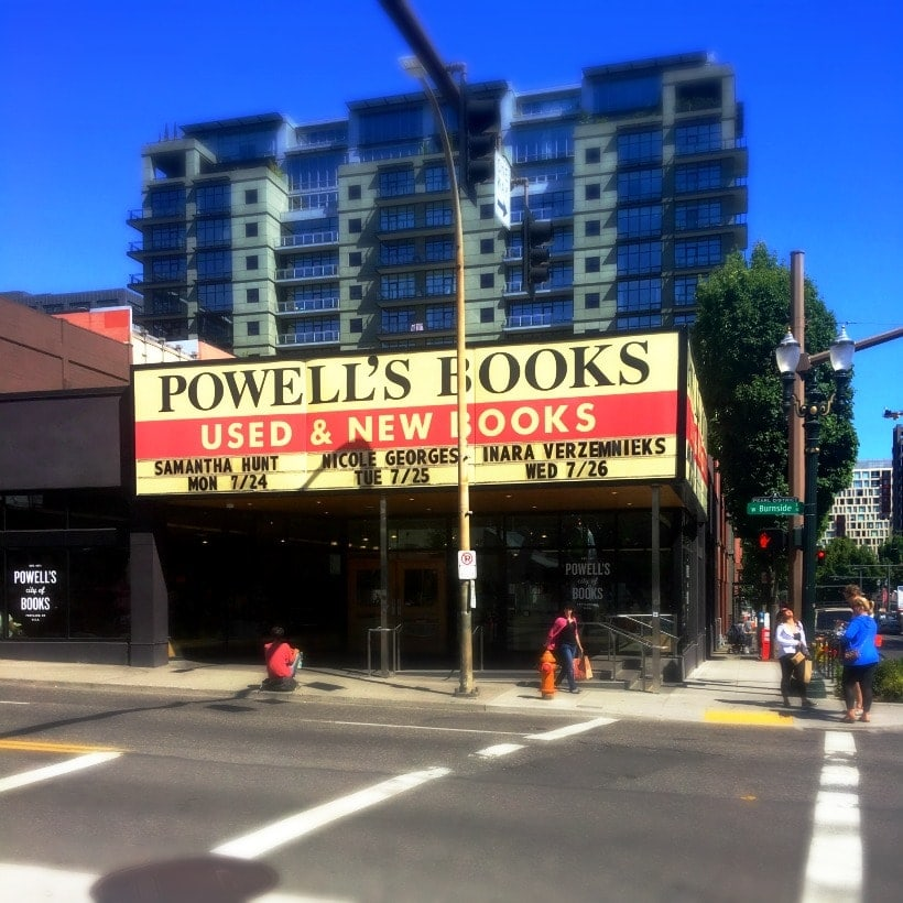 Happiness is wandering aimlessly through Powell's City of Books in Portland, Oregon