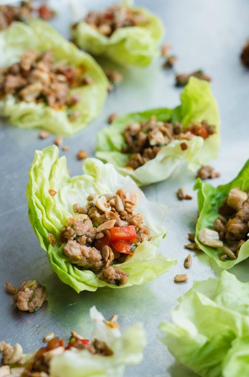 These lentil turkey lettuce wraps are addictively delicious for a healthy meal or snack. They're gluten free, low FODMAP, and easy to make! #AD