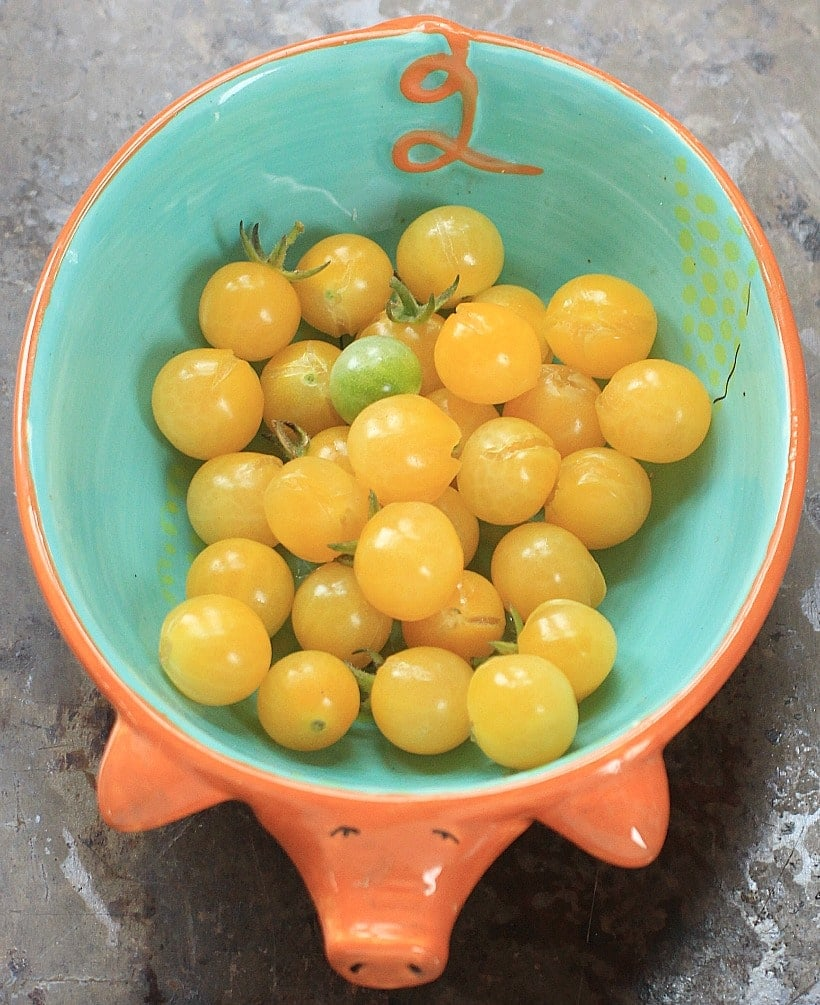 Home Grown Yellow Cherry Tomatoes @thespicyrd