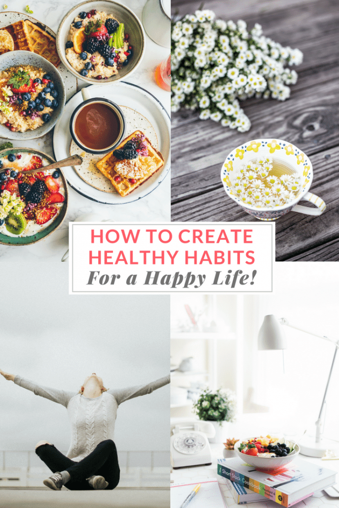 How to Create Habits for a Healthy, Happy Life | Get tips & tools, and join my Healthy Habit Community on Facebook for Support, Motivation, and Inspiration! | EA Stewart, Spicy RD Nutrition
