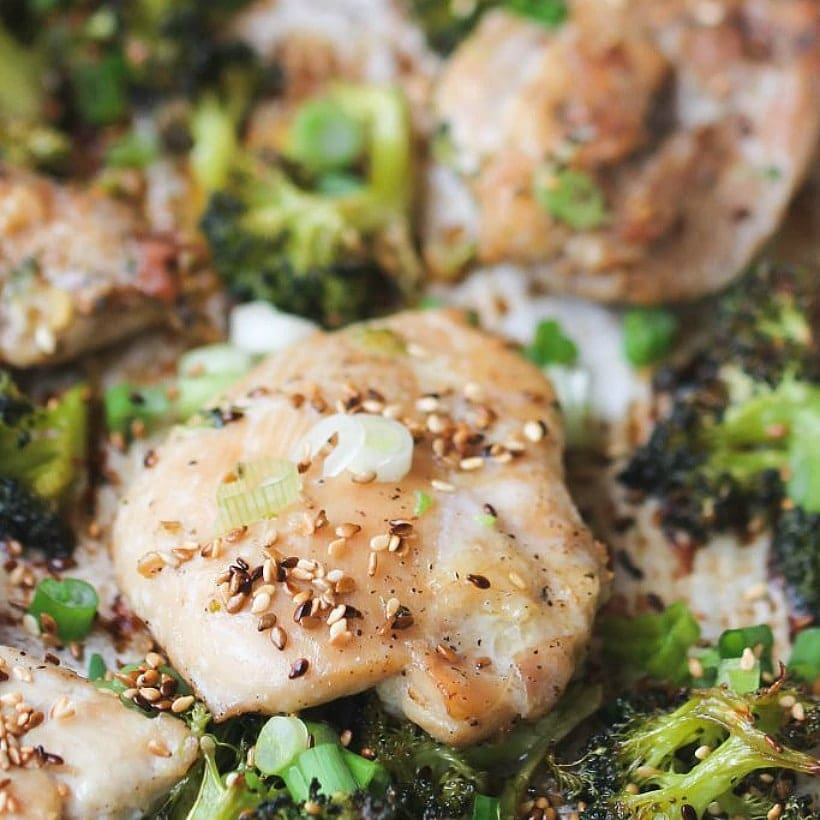 Sheet Pan Chicken and Broccoli
