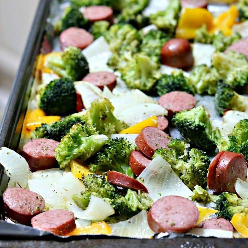 One Pan Turkey Sausage & Vegetables