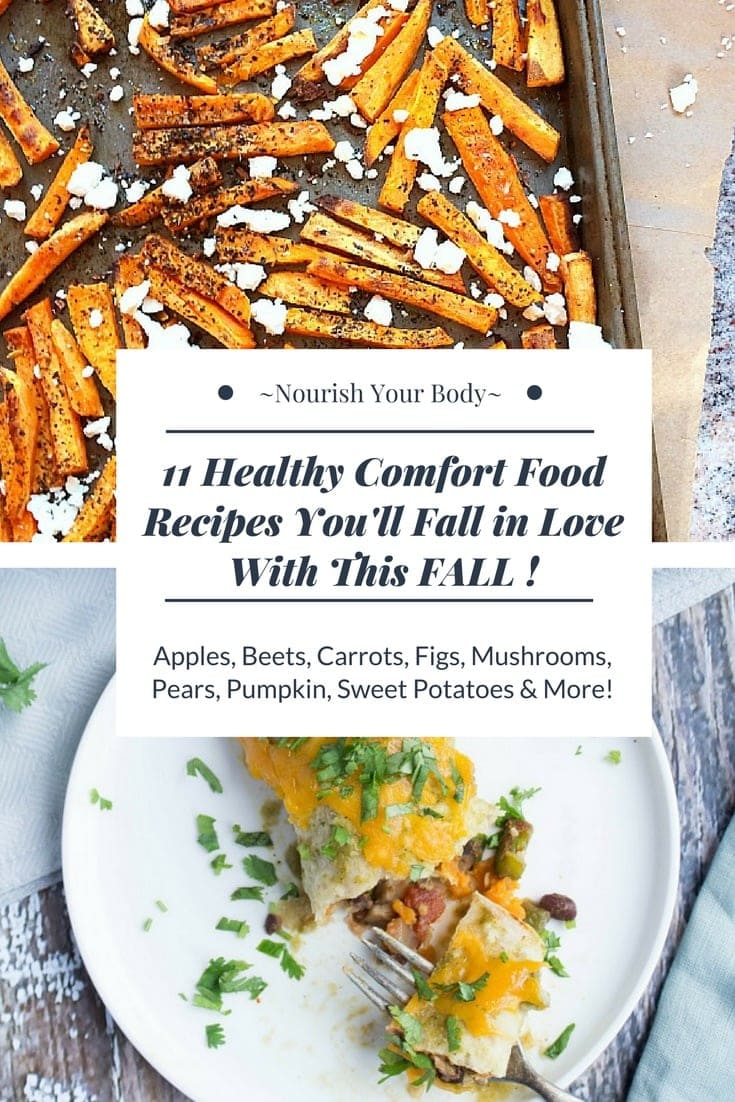 11 Healthy Comfort Food Recipes You'll Fall in Love With This Fall! #comfortfood #healthyrecipes #fall