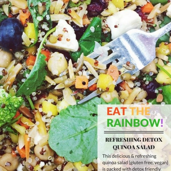 "Refreshing ""Detox"" Quinoa Salad + More Happy Things & Healthy Living Tips!"