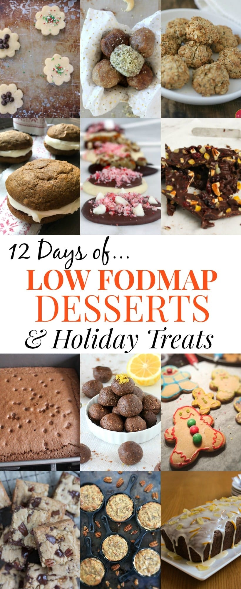 12 Days of Low FODMAP Desserts & Holiday Treats