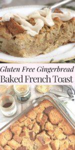 Gluten free baked french toast pinterest image