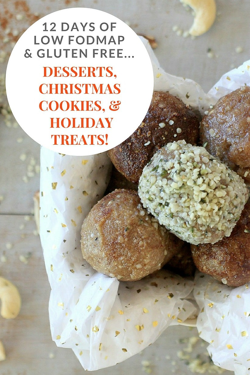 You won't miss the merriment of the holiday season with these delectable low FODMAP desserts, gluten free Christmas cookies, and holiday treats!