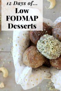 Low FODMAP Desserts Pinterest Image