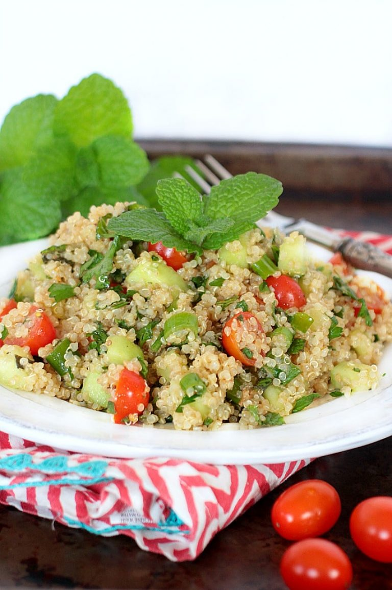 Fresh & Easy Quinoa Tabbouleh {Gluten Free, Low FODMAP}+ More Happy Things & Healthy Living Tips