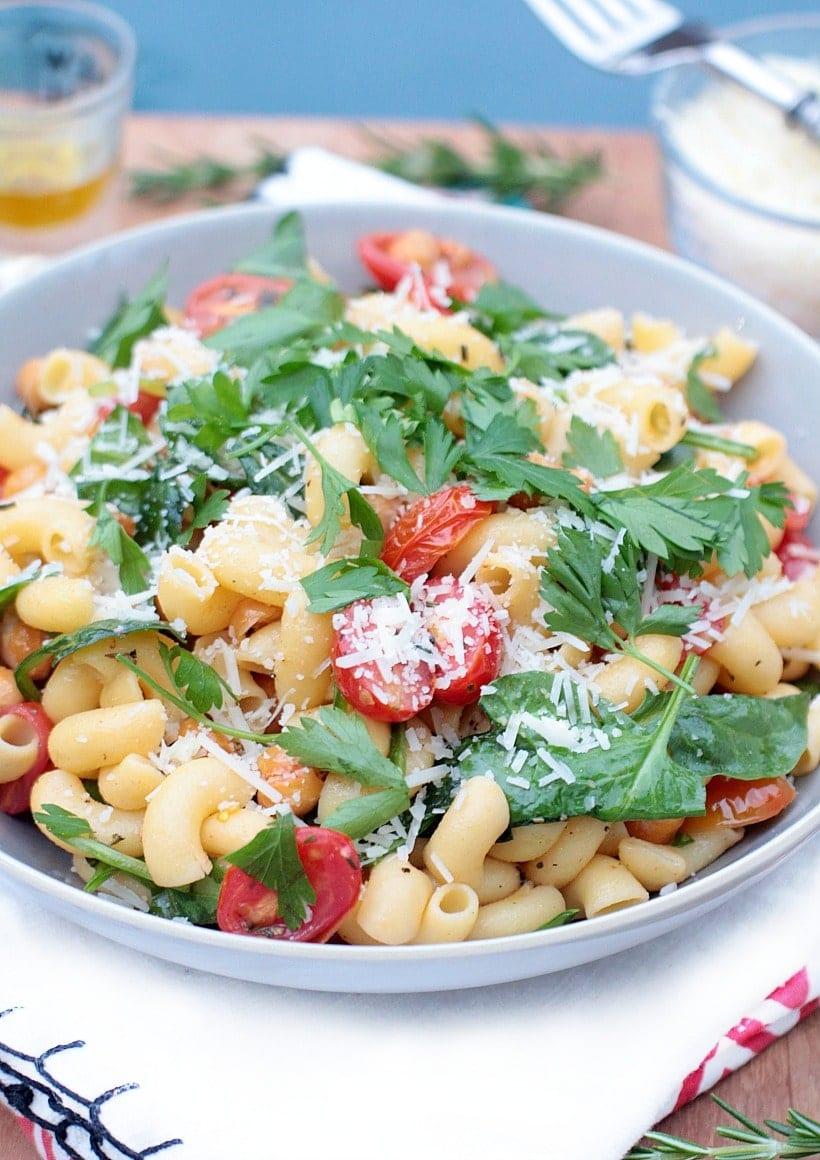 Mediterranean Dinner Recipes Crispy Rosemary Chickpea Pasta