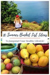 summer bucket list ideas graphic