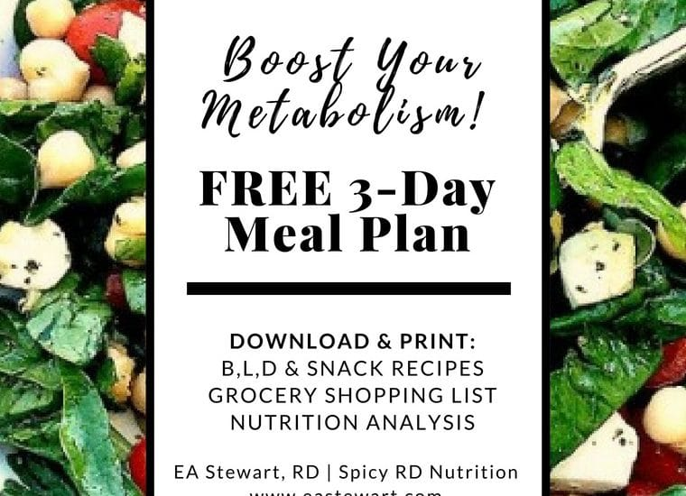 How to Boost Your Metabolism + A FREE 3-Day Meal Plan