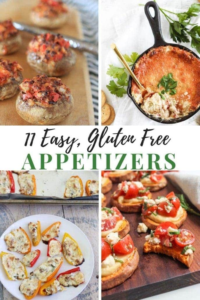 Easy Gluten Free Appetizers Recipes Collage