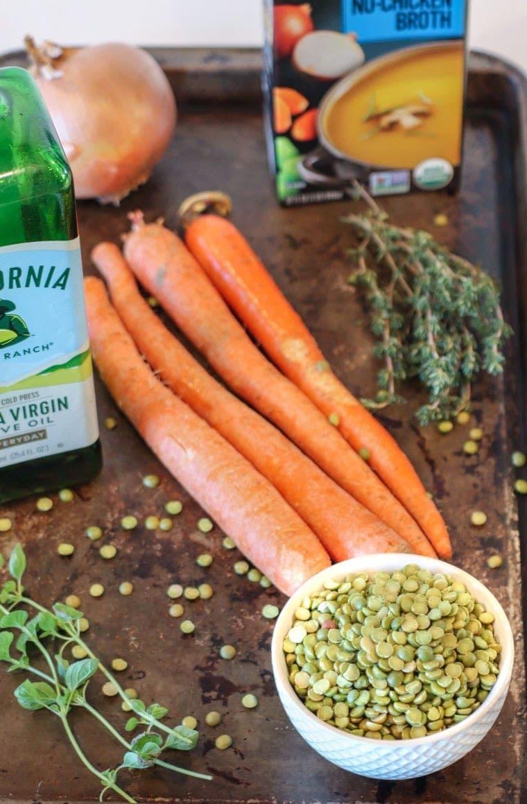 Vegan Split Pea Soup Ingredients