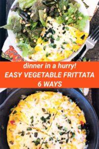 vegetable frittata pinterest image