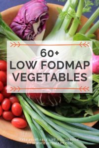 Low FODMAP Vegetables in a wooden bowl.