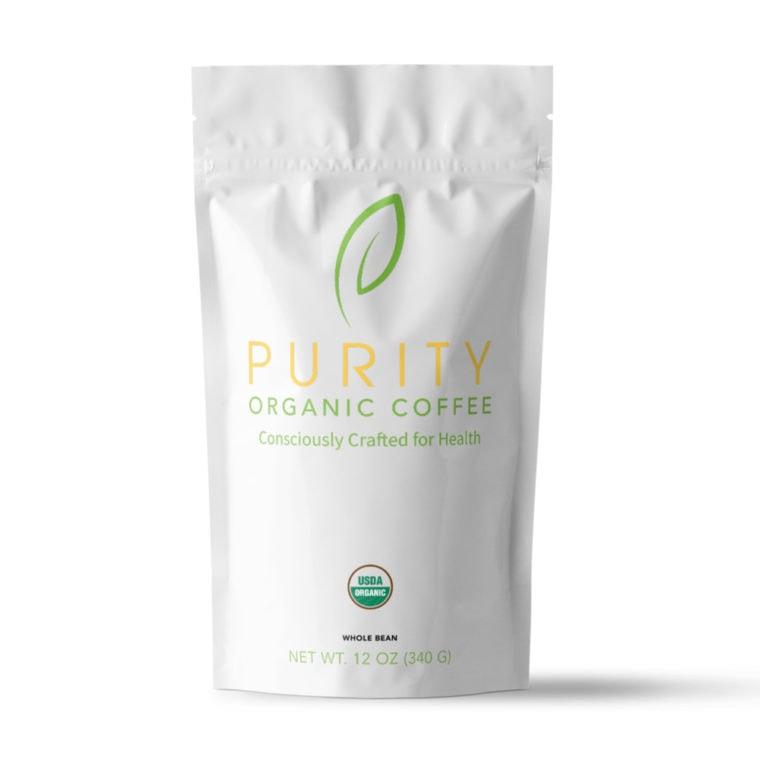 bag of organic purity coffee