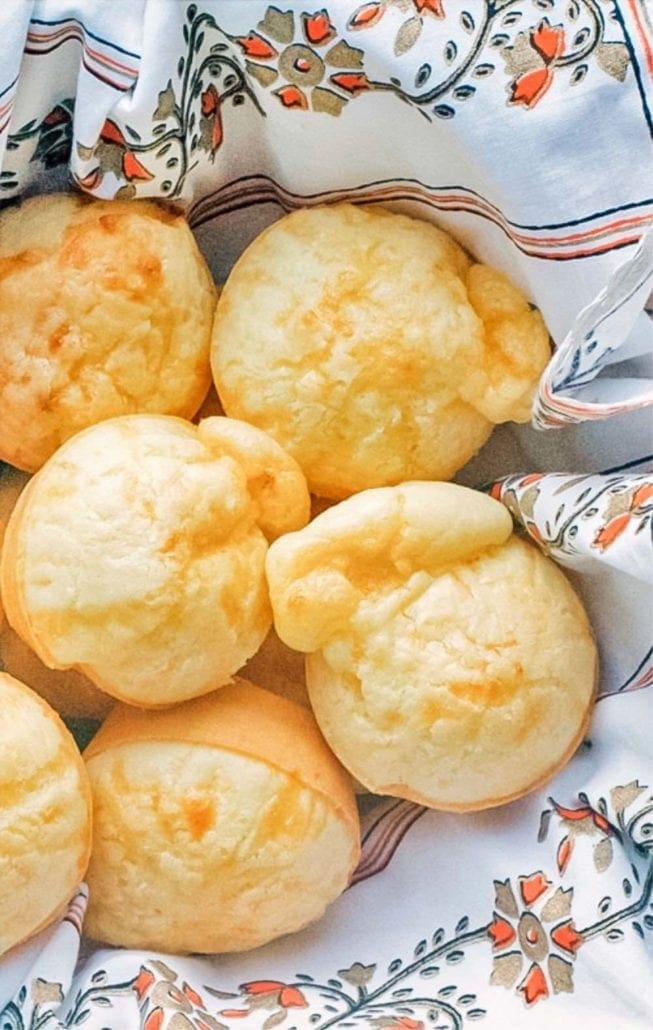 Brazilian Cheese Bread Recipe Pinterest Image