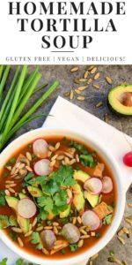 Vegan Tortilla Soup Pinterest Image
