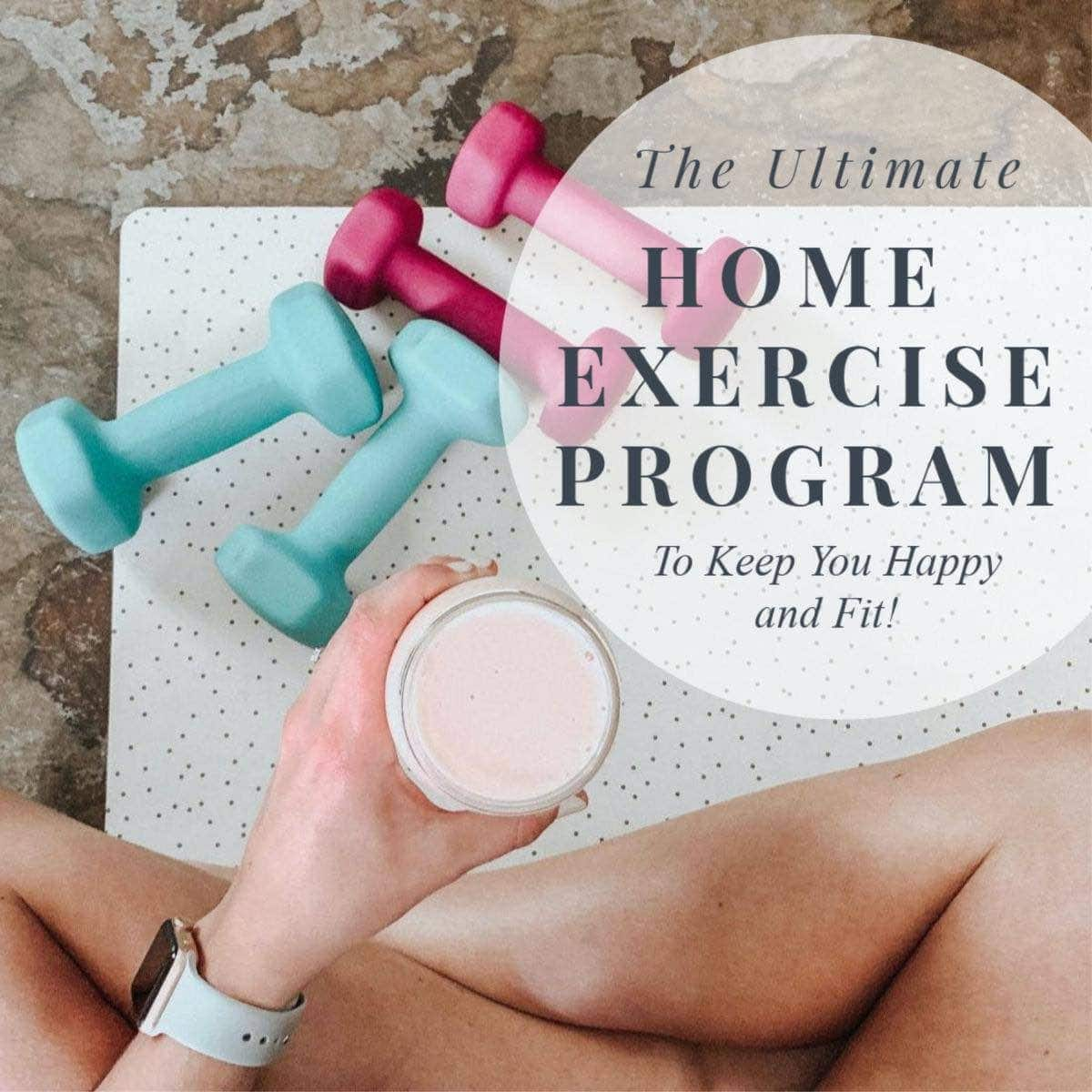 Home Exercise Program Dumbbells and yoga mat