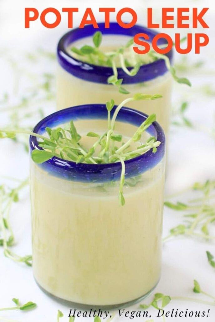 Potato leek soup pinterest image