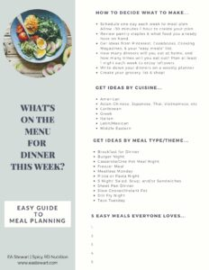 How to Meal Plan Tip Sheet.
