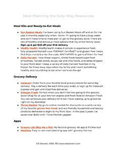 How to Meal Plan Resource Guide.
