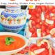 3 photo collage with pictures of cream of tomato soup.