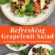Pinterest photo collage with 2 images featuring a colorful winter salad.