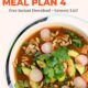 Bowl of tortilla soup with text overlay-Healthy Weekly Gluten Free Meal Plan 4