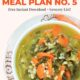 Pinterest image with a bowl of kale basmati soup and text overlay-healthy weekly gluten free meal plan no. 5.